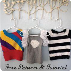 raglan sleeve tops :: pattern + tutorial ::