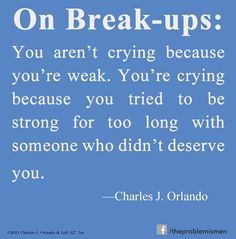 If you've been through a break-up, this is for you....