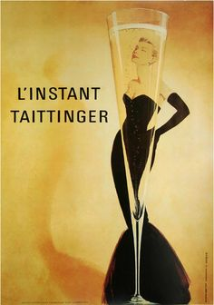 """Vintage Art - """"LInstant Taittinger, Vintage Poster"""" wall art available at Great BIG Canvas. : Vintage Art - """"LInstant Taittinger, Vintage Poster"""" wall art available at Great BIG Canvas. Street Art Poster, Pop Art Poster, Retro Poster, Kunst Poster, Poster Prints, Art Posters, Poster Poster, Modern Posters, Movie Posters"""