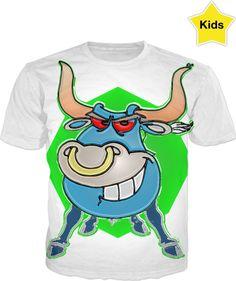 Blue Bulls Kids T-Shirt. Double Take, Style And Grace, Jealousy, Print Design, Organic Cotton, Sleeves, Mens Tops, Kids, T Shirt