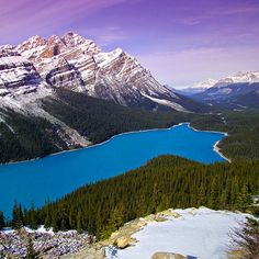 Peyto Lake (Alberta, Canada) is a glacier-fed lake located in Banff National Park in the Canadian Rockies Banff National Park, National Parks, Places To Travel, Places To See, Travel Stuff, Travel Destinations, Beautiful World, Beautiful Places, Amazing Places