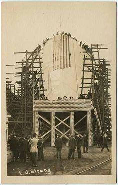 RPPC Ship Launching Of A Military Ship~L.J. Strang