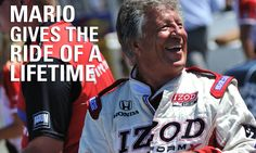 "Indy 500 Champion Mario Andretti gave Jessica Dunn the ride of her life in the IZOD-Honda two-seater during Sunday's NBC Sports Broadcast of the IZOD IndyCar Series GoPro Indy Grand Prix of Sonoma. This is the second year of the IZOD-Honda ""Fastest Seats in Sports"" multi-million dollar national media campaign, where consumers go to ShopHonda.com and enter to win a chance to start an IZOD IndyCar Series race with Mario at the wheel."
