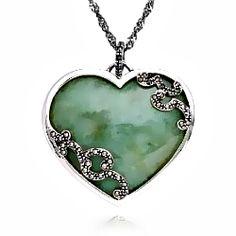 green jade heart