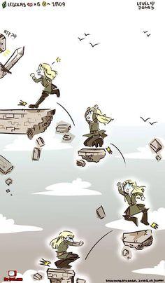 La gravité selon Legolas. #Humour #Logique
