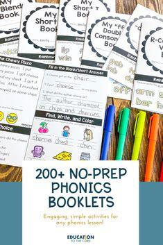 Phonics Reading, Teaching Phonics, Phonics Worksheets, Phonics Activities, Reading Activities, Teaching Reading, Elementary Teaching, Teaching Tools, Toddler Activities