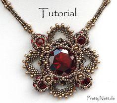 """Beading Pattern for pendant """"Royal Clover"""" by PrettyNett.de"""