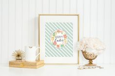 Want to do a little last-minute office Easter decorating? Hop on over to the free printables from The Girls at Eighteen25
