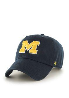 new arrival dbfef 8ec71  47 Michigan Wolverines Mens Navy Blue Clean Up Adjustable Hat University  Of Michigan Apparel,
