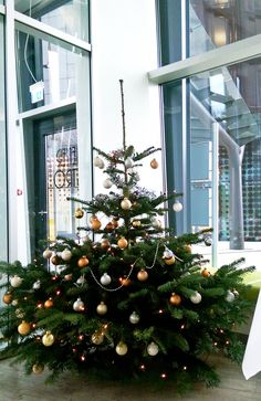 Christmas tree at ARCOTEL Onyx Hamburg