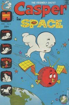 Casper the friendly ghost in space vintage comic book.