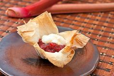 Muffin Tin Mania: Rhubarb Strawberry Cups with Vanilla Scented Yogurt