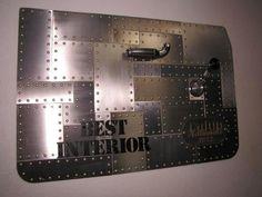 17 Super Ideas for sheet metal door panels Truck Interior, Best Interior, Interior Door, Interior Ideas, Metal Projects, Metal Crafts, Custom Metal Work, Sheet Metal Work, Aviation Decor