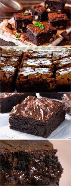 BROWNIE DE CHOCOLATE , MUITO DELICIOSO !! VEJA AQUI >>> 4 OVOS – 1 + 1/2 XÍCARA DE CHÁ (XÍCARA DE 200 ML) DE AÇÚCAR #BROWNIEDECHOCOLATE#BROWNIE#CHOCOLATE# Peanut Butter Brownies, Chocolate Brownies, Brownie Bar, Brownie Recipes, Crockpot Recipes, Cupcake Cakes, Italian Recipes, Food Porn, Food And Drink