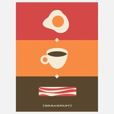 Breakfast Essential Print 12x16 now featured on Fab.