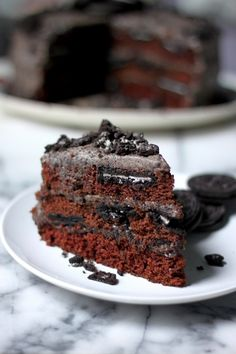 Triple Layer Chocolate Oreo Cake - Baker By Nature