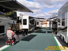 Visiting the huge Florida RV Super Show with snowbirdrvtrails.com. It takes two days to see everything! Rv Show, The Fl, It Takes Two, Florida, Country, Rural Area, The Florida, Country Music