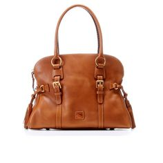 Maple and West Dooney   Bourke Florentine Domed Buckle Satchel - Natural  Leather Satchel Handbags a32ba04627b26
