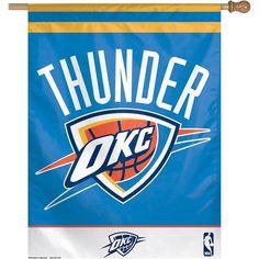 "WinCraft Oklahoma City Thunder 27"" x 37"" Vertical Flag - $32.99"