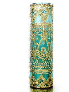 Bohemian Candle, Intricately Designed, Hand Painted and Poured Tall Aromatherapy Container Candle, Eclectic Home Decor by LITdecor on Etsy https://www.etsy.com/listing/162941874/bohemian-candle-intricately-designed
