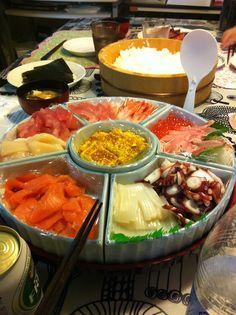 まきまき手巻き寿司。