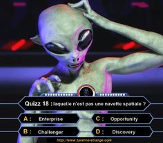 Quizz18 : Laquelle n'est pas une navette spatiale ?