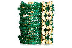 Mulit-Strand Green Onyx Bracelet on OneKingsLane.com