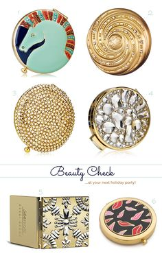 Beauty Check: Pretty Compact Mirrors... I've always wanted one of these!