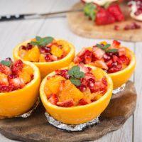 Fresh grapefruit bowls