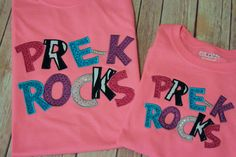 Matching Pre-K shirts for a teacher and student
