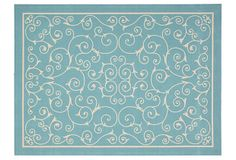 Dixwell Outdoor Rug, Light Blue on OneKingsLane.com