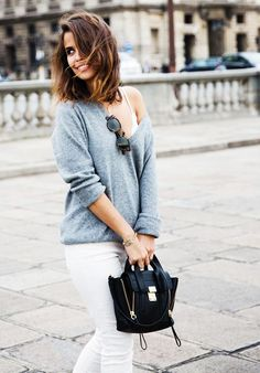 How to Tastefully Show Off Your Little Lacy Bra via @WhoWhatWear
