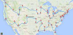 Travel Website of the Week: The Optimal American Road Trip