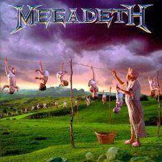 Megadeth, Youthanasia. Cd qui m'a accompagné dans mon adolescence difficile. Toujours un classique pour moi. Incluant la pièce à tout le monde, un classique de Megadeth. Probablement un des meilleurs cd que je possède.