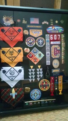 Cub Scout awards shadow box