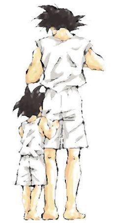 Like father like son. GOTEN AND GOKU #DRAGONBALL #DBZ #art #painting