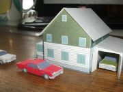 A Paper Model House for Diorama Ver.2 Free Template Download