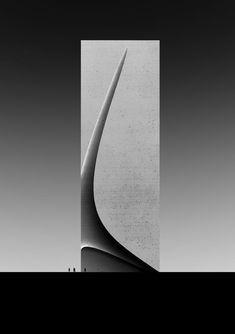Nice lines & curve Concept Models Architecture, Futuristic Architecture, Architecture Design, Zaha Hadid Architects, Facade Design, Sculpture Art, Arches, Vases, Glass Art