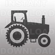 Farm Tractor SVG File Cutting Template-Vector Clip Art by sammo Silhouette Cutter, Silhouette Cameo, Vinyl Projects, Circuit Projects, Silhouette Studio Designer Edition, Art File, Diy Invitations, Monogram Fonts, Vinyl Designs