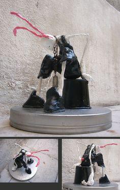 sculpture by milkaone personnage en terre retrouvez mes créations sur https://www.facebook.com/onemilka