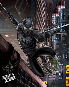Black Spiderman, Amazing Spiderman, Spiderman 2002, Comics Spiderman, Spiderman Poster, Spiderman Symbiote, Marvel Comics, Marvel Art, Marvel Heroes