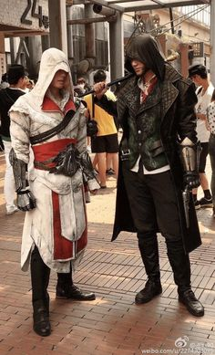 Assassins Creed Ezio and Jacob Frye cosplay! Super cosplay woow like they come to life