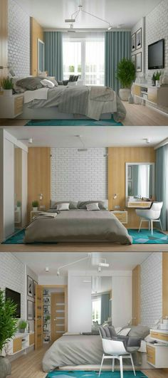 Here are several amazing modern bedroom designs and ideas. home inspiration Modern Bedroom Design, Master Bedroom Design, Home Interior Design, Interior Architecture, Interior Plants, Interior Decorating, Bedroom Designs, Decorating Tips, Three Bedroom House