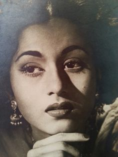 Let's go back to the roots of indian cinema and find out about the beauty of movies and music during the black and white and early colour movie era. Beautiful Bollywood Actress, Most Beautiful Indian Actress, Beautiful Actresses, Timeless Beauty, True Beauty, Legendary Pictures, Bollywood Pictures, Vintage India, Retro Vintage
