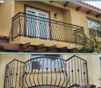 Balcony railing for our top deck