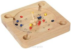 Bartl, Super-Roulette, Gesellschaftsspiel aus Holz, 12 Kugeln,1 Kreisl 100276