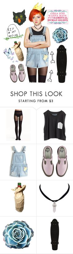 """""""current mood"""" by cccchloeeee ❤ liked on Polyvore featuring H&M, Blondes Make Better T-Shirts and Dr. Martens"""