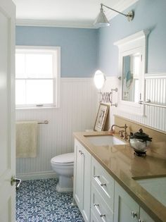 subway tile  bathroom walls | ... to your bathroom wall by only tiling three quarters of the way up