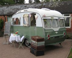 Audrey the Caravan. 1960s caravan from Vintage Glamour Days