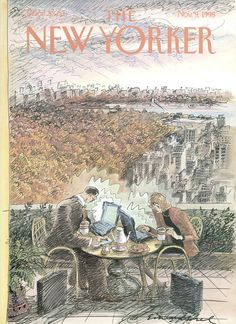 """The New Yorker - Monday, November 9, 1998 - Issue # 3820 - Vol. 74 - N° 34 - Cover """"Early Birds"""" by Edward Sorel"""